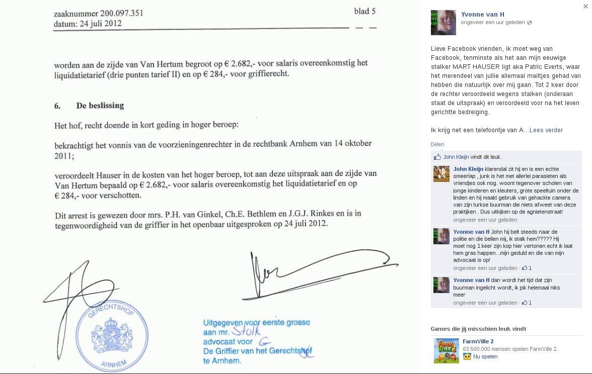 Yvonne van Hertum belastert Mart Hauser weer eens