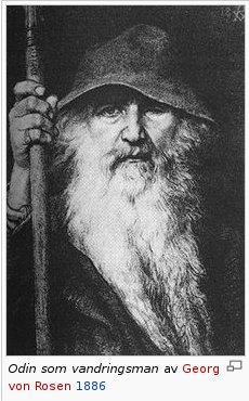 Dit is Odin in vermomming. De gelijkenis met Sinterklaas is treffend.